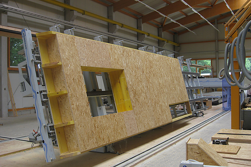 Wandaufbau holzrahmenbau mit installationsebene  Produktion - Zimmerei Hamdorf